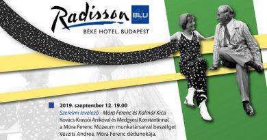 Móra-estek a Radisson Blu Hotel Béke Zsolnay Szalonjában. Rendezvény Magazin 2019.