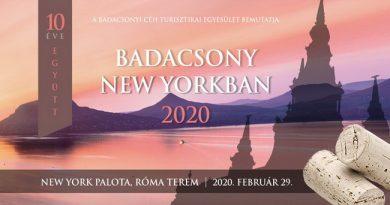 Badacsony New Yorkban 2020. A badacsonyi borvidék éves seregszemléje a belvárosi rendezvénypalotában. Rendezvény Magazin 2020.